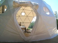 Not a yurt but, still,  a charming geodesic dome tent.