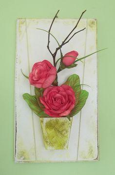 Quadro com Arranjo de Flores em Eva