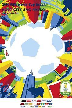 SAO PAULO FIFA World Cup 2014 FIFA | Poster | Criatives | Blog Design, Inspirações, Tutoriais, Web Design