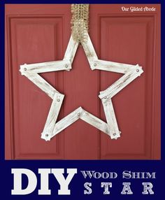 Our Gilded Abode - DIY Wood Shim Star