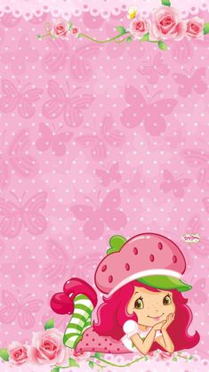 Strawberry Shortcake Pictures, Strawberry Shortcake Characters, Strawberry Shortcake Birthday, Looney Tunes Wallpaper, Cartoon Wallpaper, Simple Wallpapers, Christmas Frames, Hello Kitty Wallpaper, Borders For Paper