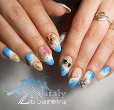 Beach nails, Mermaid nails