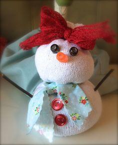 Sock snowmen! Cute!