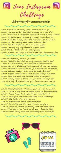 June Instagram Challenge   30 Day Instagram Challenge   30 Day Challenge   Instagram Tips   How to Gain Followers on Instagram   Instagram for Bloggers   Social Media Tips and Tricks   Instagram Tips   Join the Instagram Challenge on www.amamatale.com