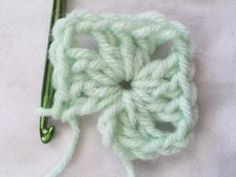How to Crochet a Classic Granny Square: Final Cluster of Round One