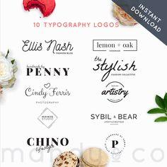 Logo Pack, Minimalist,Premade Logos, Business logo, Premade logo, photography logos, branding kit, by MandyandCo on Etsy