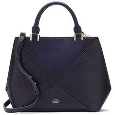 Brands | Satchels | Cow Hair & Leather Satchel | Lord & Taylor (875 BRL) ❤ liked on Polyvore featuring bags, handbags, genuine leather satchel handbags, handbag satchel, blue leather handbags, genuine leather handbags and real leather handbags