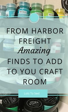Great finds at Harbor Freight to add functionality to your craft room.