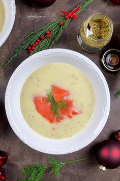 Apfel-Sellerie-Senf-Suppe, fruchtig-frisch und toll als Vorsuppe für Weihnachten.   malteskitchen.de