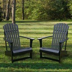 and SAVE! Midnight Black Adirondack Chair