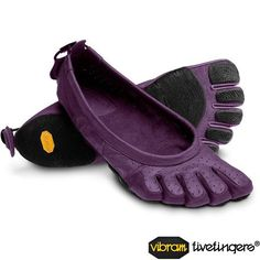 Vibram Five Fingers Performa Pilates/Yoga Shoes Violet/Black Yoga Shoes, Running Shoes, Vibram Fivefingers, Five Fingers, Barefoot Shoes, Toe Socks, Purple Shoes, Red Shoes, Women's Shoes