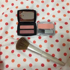 2 blush Kits with three colors.Comes w/ 2 brushes 3 different shades of blush that come in two separate kits. Comes with small and larger brushes. None of the make up I sell has ever been used !  Covergirl Makeup Blush