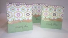 Gold and  Green Thank You Card by NyraCards on Etsy,