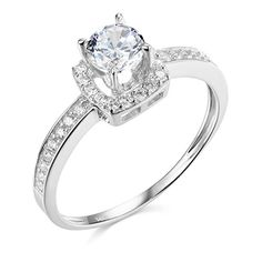 Engagement Rings Simple | 14k White Gold SOLID Wedding Engagement Ring  Size 4 -- Learn more by visiting the image link.(It is Amazon affiliate link) #likecommentfollow Best Engagement Rings, Engagement Ring Sizes, Vintage Engagement Rings, Wedding Engagement, Fashion Rings, Image Link, White Gold, Amazon, Diamond