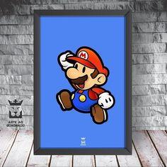 """176 curtidas, 4 comentários - Decoração - Arte ao Quadrado 🦁 (@arteaoquadrado.oficial) no Instagram: """"Mario Bros! 🔴🔵 . #arteaoquadrado #arte #decor #decoração #decoracao #quadro #inspiração…"""""""