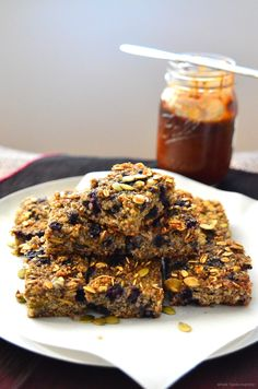 Quinoa Breakfast Bars. Added choc chips, coconut. Used a mix of sunflower and pumpkin seeds. Used regular milk and brown sugar. Needs more cinnamon or sugar