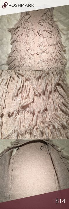 H&M boho chic fringe vest Small Stylish boho chic fringe vest by H&M. Open front, sirs below hips. Pristine condition, no rips stains tears or imperfections. H&M Sweaters