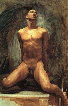 John Singer Sargent, Nude Study of Thomas E. Mckeller. 1917.Oil on canvas. Museum of Fine Arts, Boston.