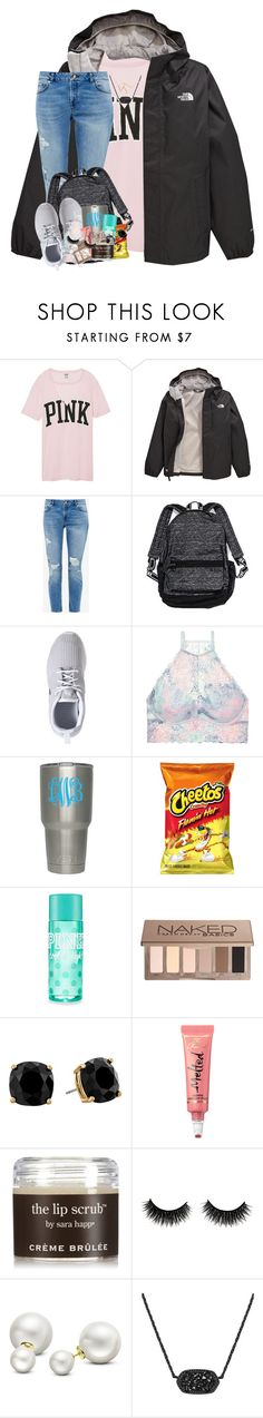 """""""a lust for life keeps us alive"""" by theblonde07 ❤ liked on Polyvore featuring Victoria's Secret, The North Face, Ted Baker, NIKE, Urban Decay, Kate Spade, Too Faced Cosmetics, Sara Happ, Allurez and Kendra Scott"""