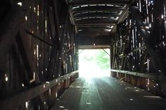 Light at the end of the covered bridge