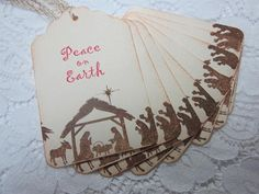 Handmade Vintage Style Gift Tag  Nativity Scene by wkburden, $4.99
