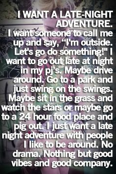 That's all i really want