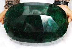 largest gem ever found | Owners of the world's largest cut emerald – a 57,500-carat natural ...