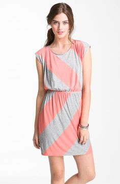 Soprano Neon Stripe Dress (Juniors) | Nordstrom (on sale for $21)