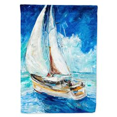 Caroline's Treasures Sailboats In Blue Flag Garden Size at Lowe's.The Garden size flag is made from a polyester material. Two pieces of material have been sewn together to form a double sided flag. Henri Matisse, Wooden Flag Pole, Art Nouveau, Blue Artwork, Glass Cutting Board, Cutting Boards, Blue Flag, Flag Stand, Video Game