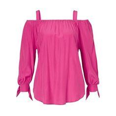 Bluse, Off-Shoulder, gerade geschnitten, elegant Vorderansicht