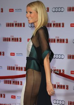 Perfect from every angle: Gwyneth smiled widely as strutted along the red carpet