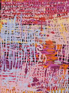 Myra Yurtiwa Cook, Lirrun, 2011, acrylic on canvas, 76.2 cm x 101.6 cm. Warakurna Artists; 2011 Darwin Aboriginal Art Fair.