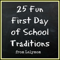 25+ Fun First Day of School Traditions to make the day a fun and special one! This is an awesome way to make some special memories with your kids. The first day of school is always an exciting time for kids and parents. #lalymom #schooltraditions #firstdayioschool #funforkids #schoolfun #schooltraditions