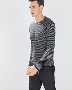 FINE STRIPED SWEATER-Tops-Starting from 50% off-MAN-SALE | ZARA United States