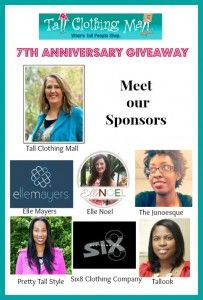 awesome and huge #giveaway  Tall Clothing Mall 7th Anniversary: $350 Paypal Cash Giveaway
