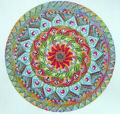 Like a Flower Mandala coloured by Louise