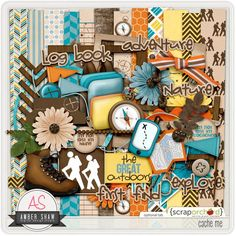 Cache Me Digital scrap booking kit by Amber Shaw ($5.49).  The link now seems to be broken.