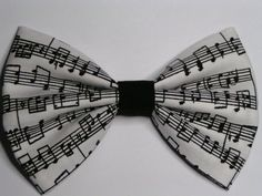 Music notes fabric hair bow clip Hair clips by ClipaBowBoutique, $3.50