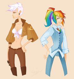 Gilda and Rainbow Dash by ~CrystallizedTwilight on deviantART