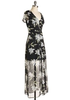 Courtyard Chic Dress. Days spent on your veranda are as elegant as an evening fete when youre clad in this black maxi! #black #modcloth