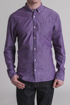 Artistry In Motion L/S 1 Pocket Chambray Woven Shirt