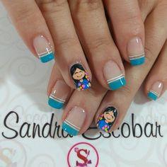 Nail Manicure, Nails, Hair Beauty, Nail Art, Nail Arts, Work Nails, Stickers, Flamingo Nails, Indian Nails