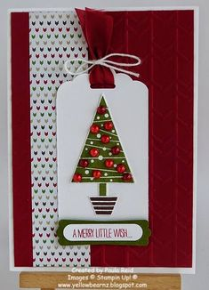 Hi there   I hope you're enjoying this showcase of ideas using the new Festival of Trees.   For this card I've used a layout from a recent c...
