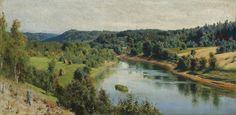 """VASILI DMITRIEVICH POLENOV(1844-1927), """"THE RIVER OYAT"""""""