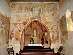The church of light, Velemér, Hungary Built in the late century this Romanesque and early Gothic edifice has become world famous thanks to the frescos created by John Aquila around John. Church Of Light, Heart Of Europe, Medieval Art, Romanesque, Korn, Hungary, Fresco, Budapest, Gothic