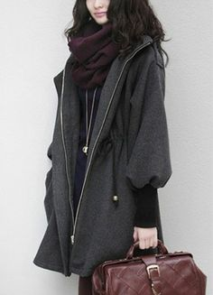 http://de.sheinside.com/Grey-Trumpet-Sleeve-Drawstring-Waist-Hooded-Woolen-Coat-p-141596-cat-1735.html