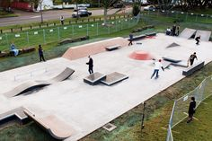 Owairaka Skatepark in New Zealand. Looks small but fun even though there are a few things that don't make much sense.