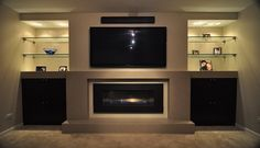 fireplace built in modern - Google Search