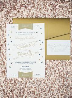 modern wedding invitation  | photos by Braedon Flynn | 100 Layer Cake