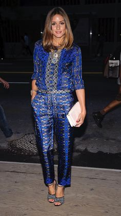 Olivia Palermo in blue | prints